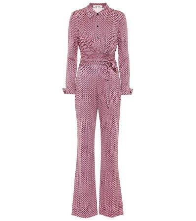Diane von Furstenberg - Michele printed silk jersey jumpsuit   Mytheresa