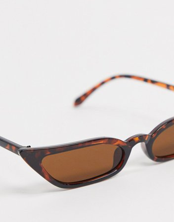 SVNX cat eye sunglasses in tortoise shell | ASOS