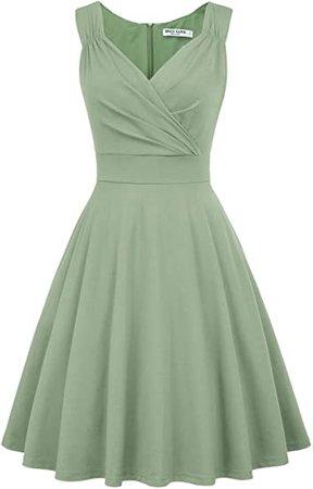 Amazon.com: GRACE KARIN Women's 50s 60s Vintage Sleeveless V-Neck Cocktail Swing Dress: Clothing