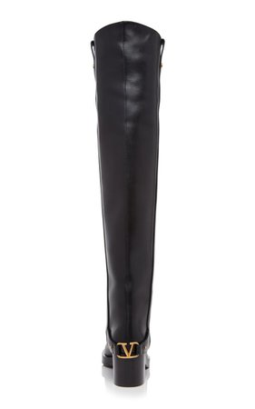 Over-The-Knee Leather Boots By Valentino | Moda Operandi
