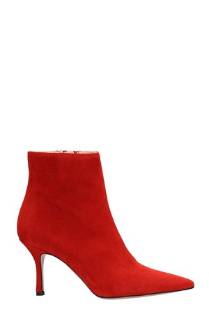 Marc Ellis Red Suede Ankle Boots