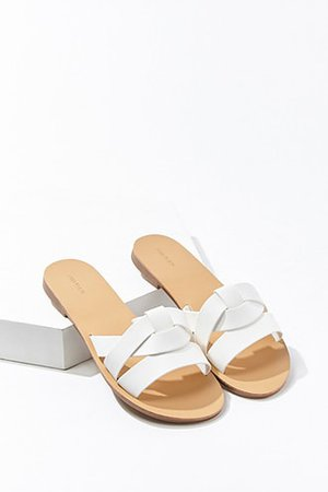 Faux Leather Crisscross Sandals | Forever 21
