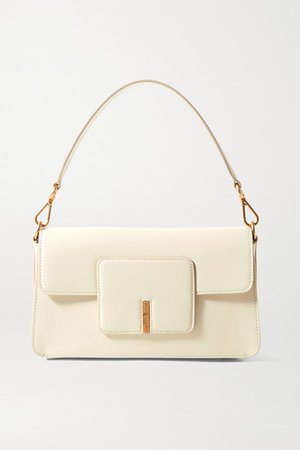 Georgia Textured-leather Shoulder Bag - Off-white