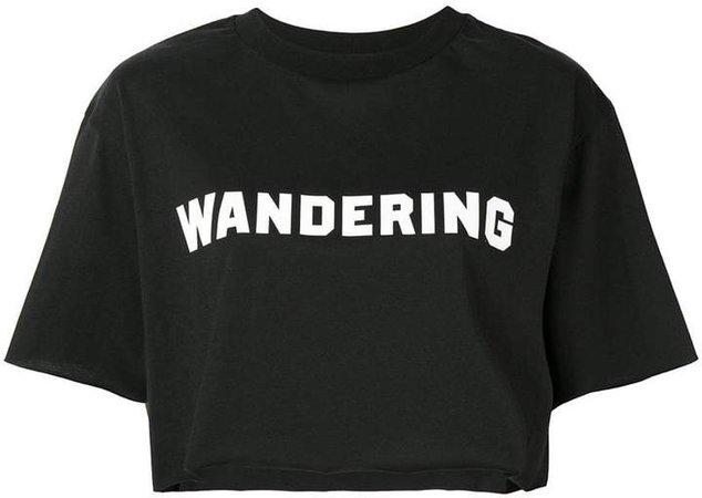 Wandering cropped logo T-shirt