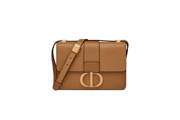 30 MONTAIGNE BAG Pale Gold Natural Calfskin