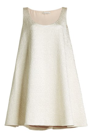 Metallic Dress with Cotton and Silk Gr. UK 8