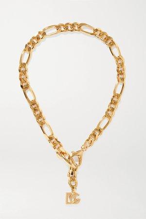 Gold Gold-tone necklace | Dolce & Gabbana | NET-A-PORTER