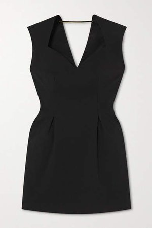 Crepe Mini Dress - Black