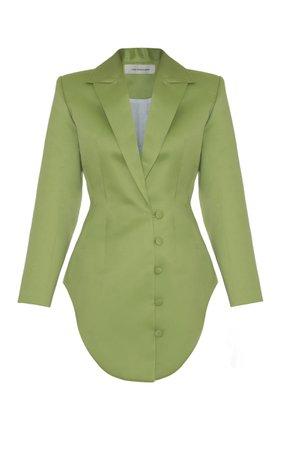 Lado Bokuchava Satin Asymmetrical Button Blazer