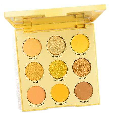 Uh-Huh Honey Golden Yellow Eyeshadow Palette | ColourP