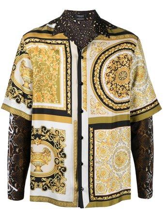 Versace Camisa Com Recortes - Farfetch