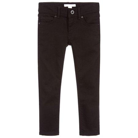 Burberry - Girls Black Skinny Jeans   Childrensalon