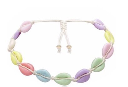 pastel colour shell choker