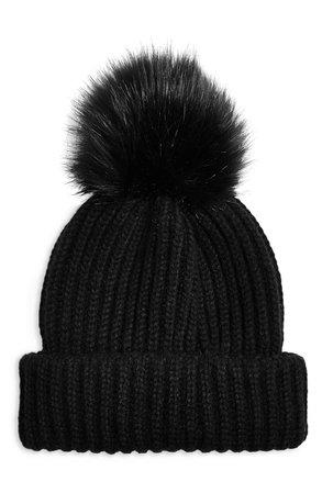 Topshop Faux Fur Pom Beanie | Nordstrom