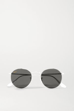 Silver Round-frame silver-tone sunglasses | Ray-Ban | NET-A-PORTER