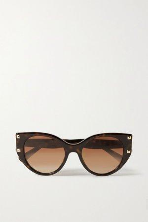 Tortoiseshell Valentino Garavani cat-eye tortoiseshell acetate sunglasses | Valentino | NET-A-PORTER