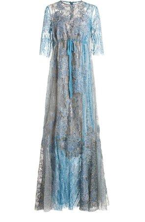 Biyan Isteina Sheer Tulle Dress