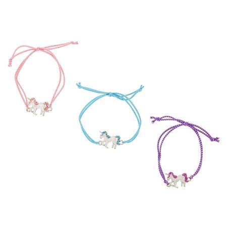 Best Friends Pastel Unicorn Stretch Bracelets | Claire's US