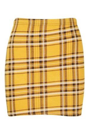 Tartan Check Basic Jersey Mini Skirt | Boohoo