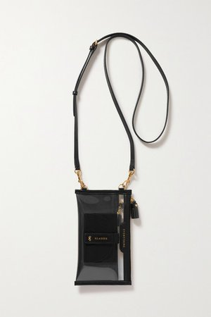 Everything Leather-trimmed Tpu And Recycled Shell Shoulder Bag - Black