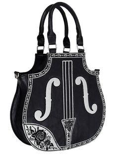 Gothic-Henkelhandtasche Violina in Geigenform