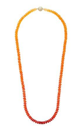 One-Of-A-Kind Fire Opal Bead Necklace by Katherine Jetter | Moda Operandi