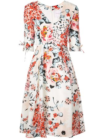 Carolina Herrera, Floral Print Flared Dress