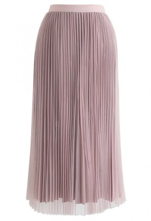 Reversible Pleated Midi Skirt in Pink - NEW ARRIVALS - Retro, Indie and Unique Fashion