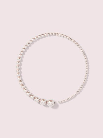 Kate Spade: modern pearls collar necklace in lilac