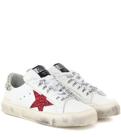 May Leather Sneakers | Golden Goose - Mytheresa