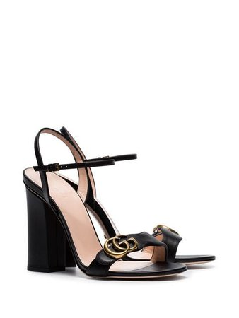 Gucci Marmont 110 chunky heel leather sandals