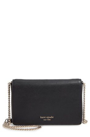 kate spade new york spencer leather wallet on a chain | Nordstrom