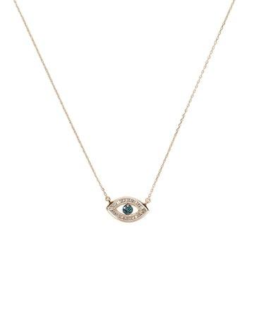 Baguette Evil Eye Necklace