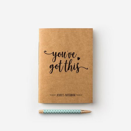 You've Got This Personalised Journal Motivational | Etsy