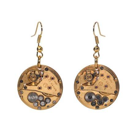 steampunk gold earrings - Google Search