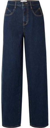 Mid-rise Wide-leg Jeans - Blue