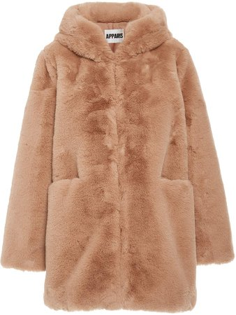Marie Faux Fur Hooded Coat