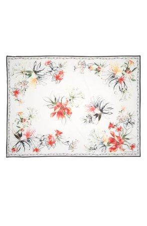 Alexander McQueen Endangered Flower Cotton & Silk Pareo Scarf | Nordstrom