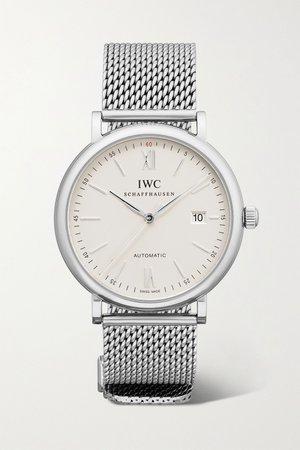 Silver Portofino Automatic 40 stainless steel watch | IWC SCHAFFHAUSEN | NET-A-PORTER