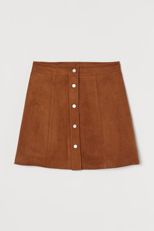 A-line Skirt - Brown - Ladies | H&M US