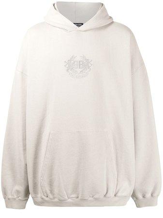 Balenciaga Hoodie Oversize à Logo Brodé - Farfetch