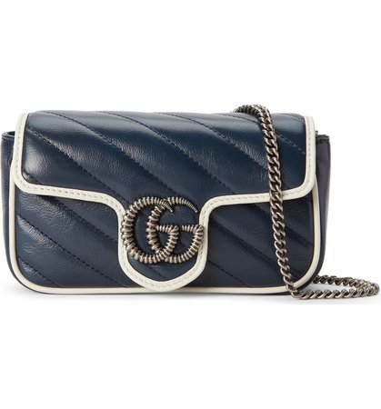 Gucci Super Mini GG Marmont Quilted Leather Shoulder Bag | Nordstrom