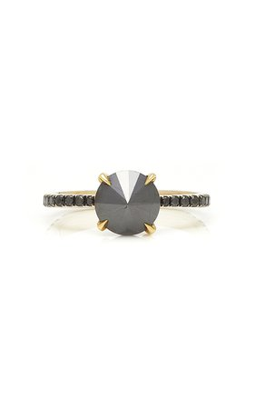18K Gold And Black Diamond Ring by Ara Vartanian | Moda Operandi