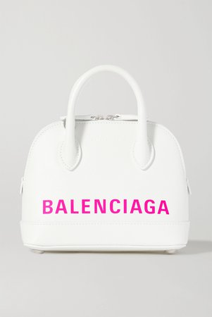 White Ville XXS AJ printed textured-leather tote | Balenciaga | NET-A-PORTER