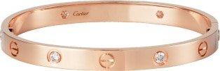 CRB6036017 - LOVE bracelet, 4 diamonds - Rose gold, diamonds - Cartier