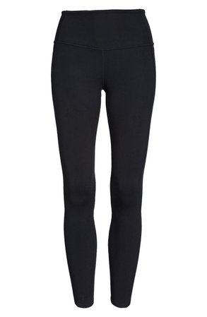 Zella High Waist Studio Lite Pocket 7/8 Leggings | black