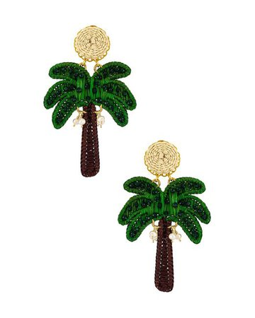 Mercedes Salazar Synthetic Palm Tree Earring in Green - Lyst