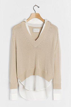 Alum V-Neck Sweater   Anthropologie