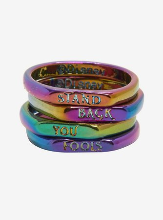 Disney Villains Maleficent Anodized Stackable Ring Set