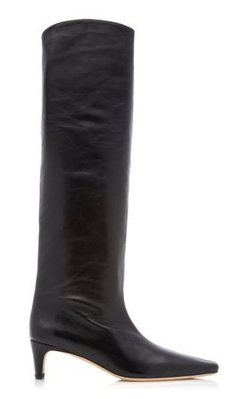 Wally Tall Leather Boots By Staud   Moda Operandi